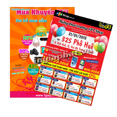 In tờ rơi A4 , giấy couch 180gsm| ingiaphat.vn