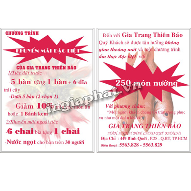 In tờ rơi A5, giấy For 100gsm| ingiaphat.vn