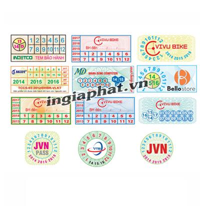 Tem bảo hành bế hình vuông| ingiaphat.vn