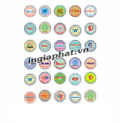 Tem bảo hành bế hình tròn| ingiaphat.vn