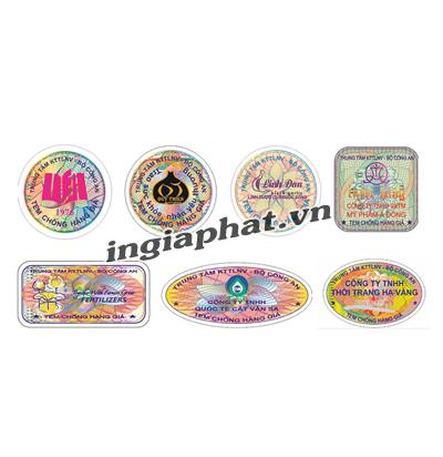 Tem bảo hành bế hình tròn, in ofset 4 màu| ingiaphat.vn
