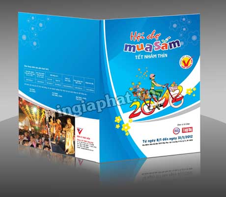In folder giấy couche 300gsm, cán màng mờ| ingiaphat.vn