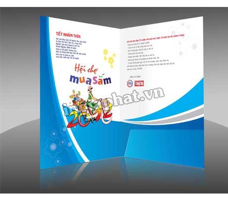 In folder giấy couche 300gsm, cán màng bóng| ingiaphat.vn